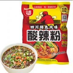 白家陈记重庆酸辣粉108g/袋 方便粉丝调料 速食红薯粉 แดง